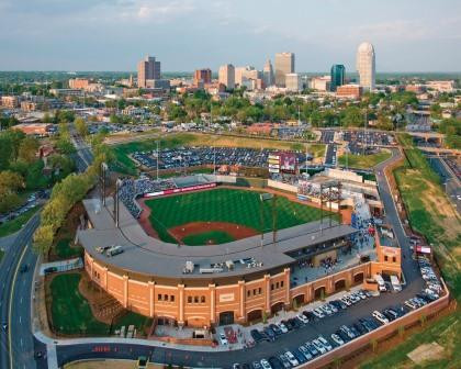 BB&T Ballpark, home of the Winston-Salem Dash of the Class A Carolina League (Courtesy:  Winston-Salem Dash)