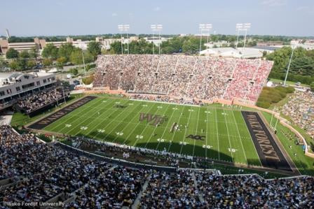BB&T Field, home of the Wake Forest Demon Deacon football team (©Wake Forest University. All Rights Reserved.)