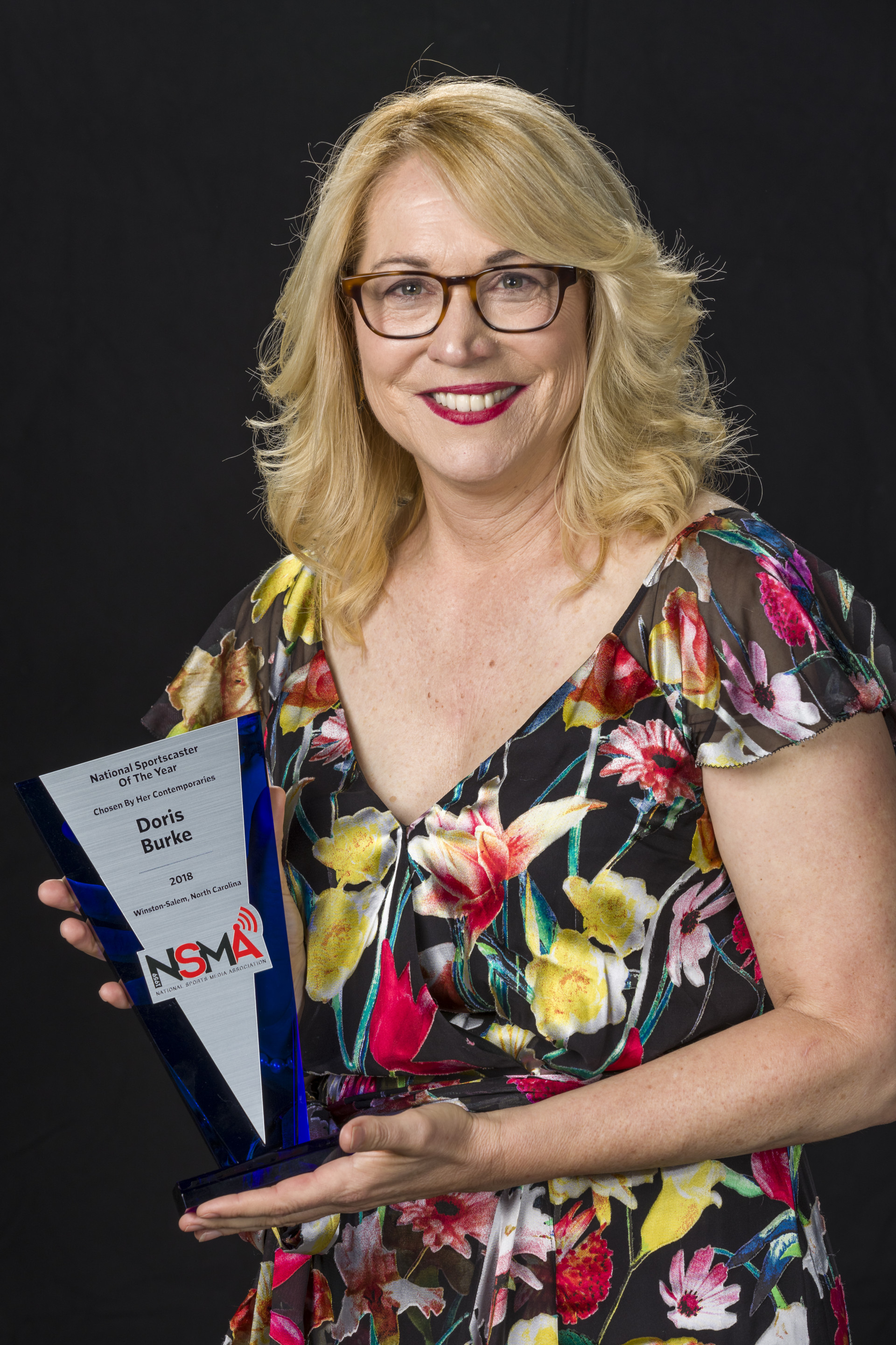 2018 NSMA National Sportscaster of the Year Doris Burke (Bob Leverone photo)
