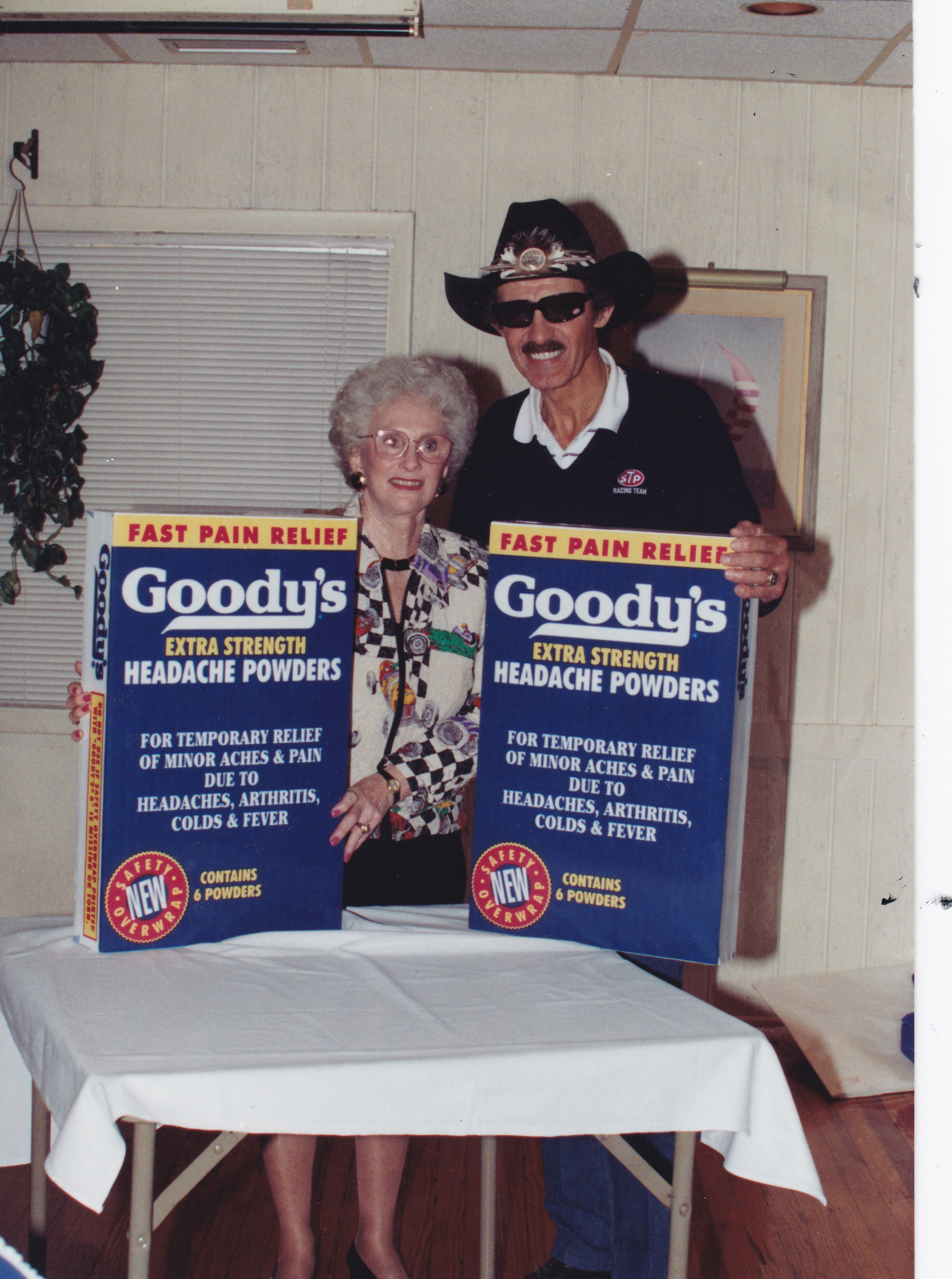 Ann Lewallen Spencer (left), with Richard Petty