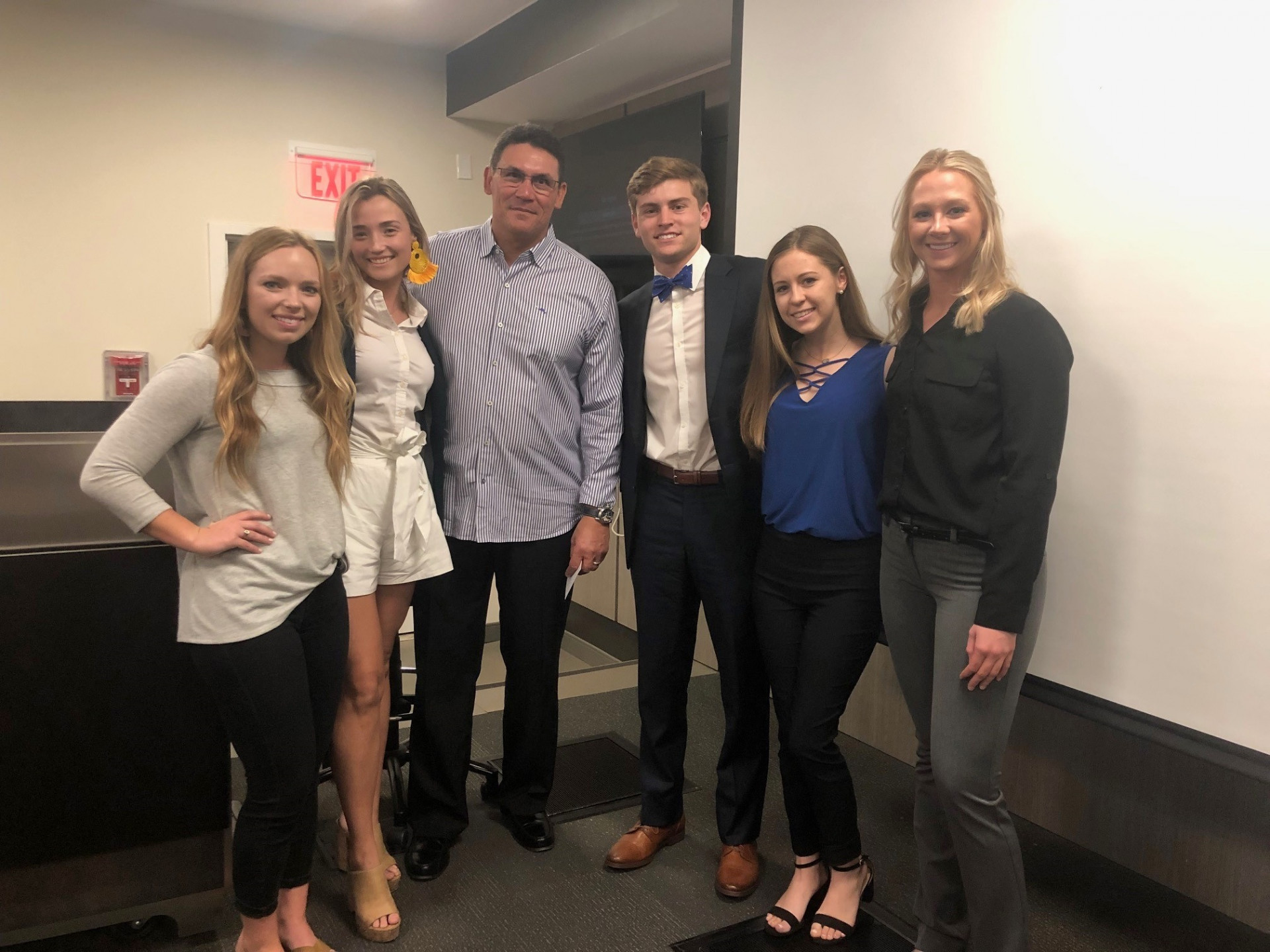 Ron Rivera, 3rd from left, with members of the NSMA student chapter board at the University of South Carolina